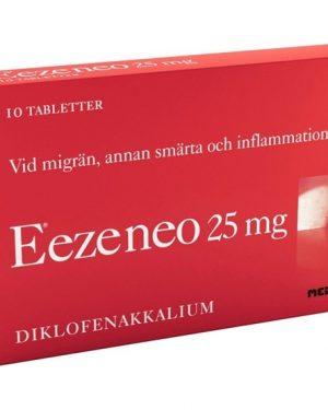 Eezeneo 25mg 10 Tablett(er) Filmdragerad Tablett