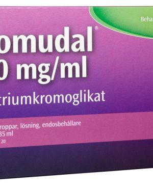 Lomudal ögondroppar i endosbehållare 40 mg/ml, 20 doser