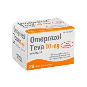 Omeprazol Teva 10mg 28 Kapsel/Kapslar Enterokapsel, H ård