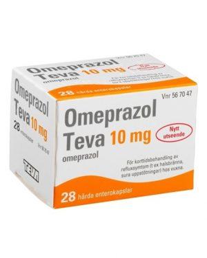 Omeprazol Teva, enterokapsel, hård 10 mg 28 st