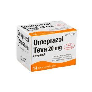 Omeprazol Teva 20mg 14 Kapsel/Kapslar Enterokapsel, H ård