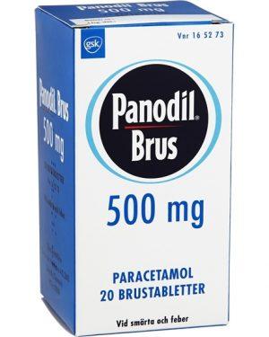 Panodil Brus 500mg 20st Brustablettett