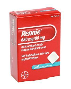 Rennie 680mg/80mg 24st Tuggtablett