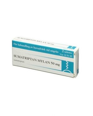 Sumatriptan Mylan 50mg 2 Tablett(er) Filmdragerad Tablett