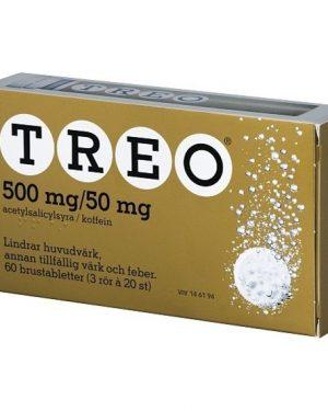 Treo, brustablett 500 mg/50 mg 3 x 20 st