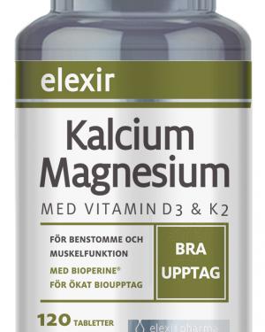 Elexir Kalcium Magnesium, 120 tabletter