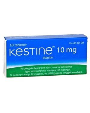 Kestine Ebastin Kestine 10 mg, Tablett 10 st