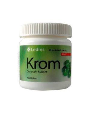 Ledins Krom 200 mikrogram 50 tabletter