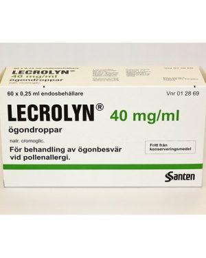 Leocrolyn Lecrolyn, Ögondroppar 40 mg/ml 60 doser