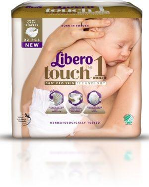 Libero Touch 1 (2-5 Kg) 22 st
