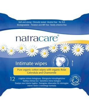 Natracare Ekologiska Våtservetter för intimhygien 12 st