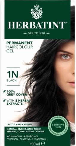Herbatint 1N hårfarve Black – 150 ml