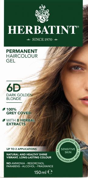 Herbatint 6D hårfarve Dark Golden Blond – 150 ml