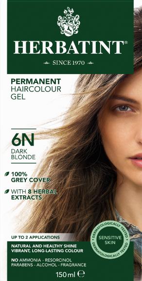 Herbatint 6N hårfarve Dark Blonde - 150 ml