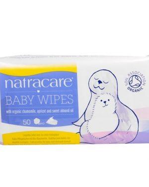 Natracare Ekologiska Babywipes 50 st