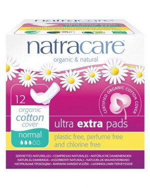 Natracare Ekologiska Bindor Ultra extra normal med vingar, 12 st