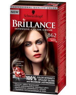 Schwarzkopf Brilliance Intensive Color-Creme 862 Natural Brown, Schwarzkopf