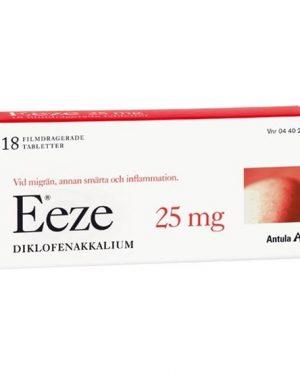 Eeze, filmdragerad tablett 25 mg 18 st