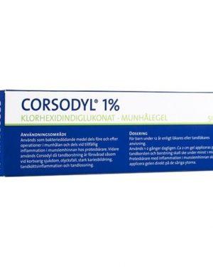Corsodyl munhålegel 1 % 50 gr