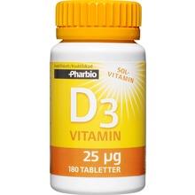 Pharbio D3-vitamin 25 µg, 1000 IE. 100 st