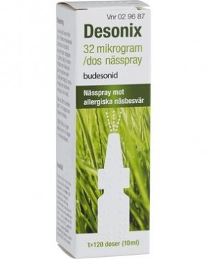 Desonix nässpray suspension 32 mikrogram/dos 120 dos(er)