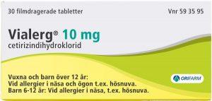Vialerg filmdragerad tablett 10 mg 30 st