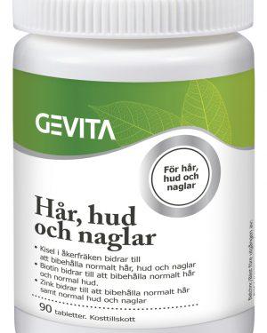Gevita Hår, hud och naglar Kosttillskott i tablettform. 90 st