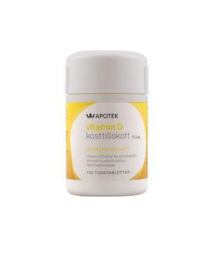 Kronans Apotek Vitamin D 12,5 µg, 500 IE. 150 st