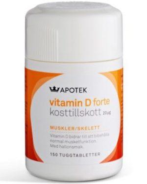 Kronans Apotek Vitamin D 20 µg 150 st