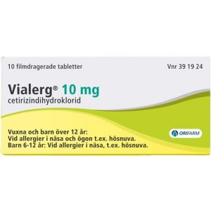 Orifarm Vialerg, filmdragerad tablett 10 mg 10 st<div class='yasr-stars-title yasr-rater-stars-visitor-votes'                                           id='yasr-visitor-votes-readonly-rater-cb8066601a534'                                           data-rating='0'                                           data-rater-starsize='16'                                           data-rater-postid='26952'                                            data-rater-readonly='true'                                           data-readonly-attribute='true'                                           data-cpt=''                                       ></div><span class='yasr-stars-title-average'>0 (0)</span>